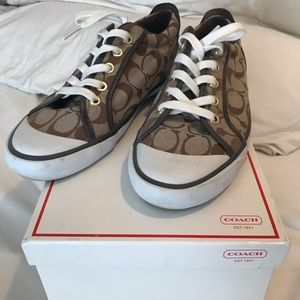Coach Barrett sneaker Khaki/Chestnut Leatherware